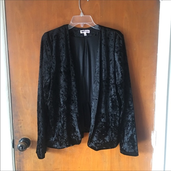 Sequin Hearts Jackets & Blazers - Sequin Hearts | Black Velvet Blazer | XL